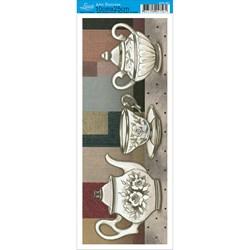 Papel para Arte Francesa Pequena Litoarte AFP-091 Jogo de Chá I