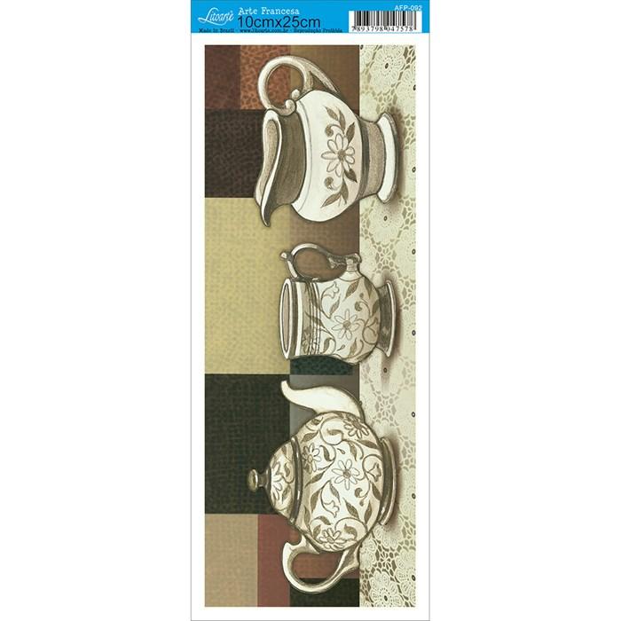 Papel para Arte Francesa Pequena Litoarte AFP-092 Jogo de Chá