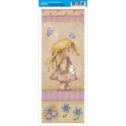 Papel para Arte Francesa Pequena Litoarte AFP-093 Menina
