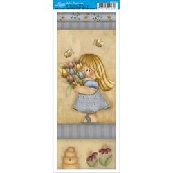 Papel para Arte Francesa Pequena Litoarte AFP-094 Menina