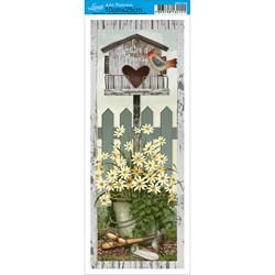 Papel para Arte Francesa Pequena Litoarte AFP-115 Jardim da Mamãe