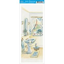 Papel para Arte Francesa Pequena Litoarte AFP-120 Banheiro