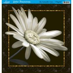 Papel para Arte Francesa Quadrada Grande Litoarte AFQG-001 Margarida