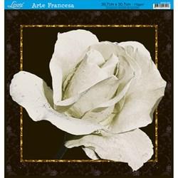 Papel para Arte Francesa Quadrada Grande Litoarte AFQG-003 Rosa