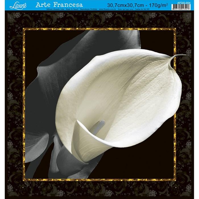 Papel para Arte Francesa Quadrada Grande Litoarte AFQG-004 Flor