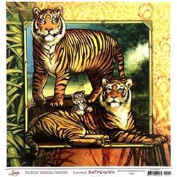 Papel para Arte Francesa Quadrada Grande Litoarte AFQG-014 Tigres