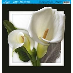 Papel para Arte Francesa Quadrada Grande Litoarte AFQG-017 Flor