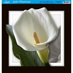 Papel para Arte Francesa Quadrada Grande Litoarte AFQG-018 Flor