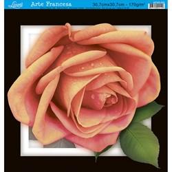 Papel para Arte Francesa Quadrada Grande Litoarte AFQG-026 Rosa II