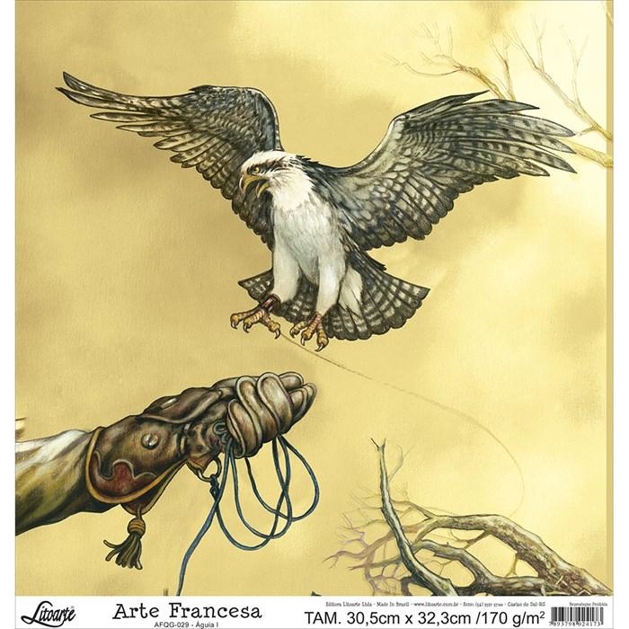 Papel para Arte Francesa Quadrada Grande Litoarte AFQG-029 Águia I