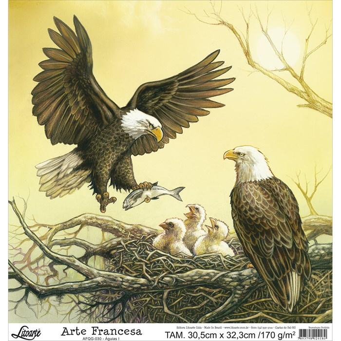 Papel para Arte Francesa Quadrada Grande Litoarte AFQG-030 Águias I