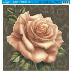 Papel para Arte Francesa Quadrada Grande Litoarte AFQG-046 Rosa Salmon