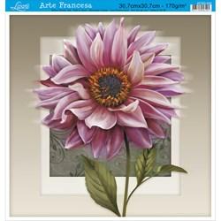 Papel para Arte Francesa Quadrada Grande Litoarte AFQG-049 Gérbera Rs.