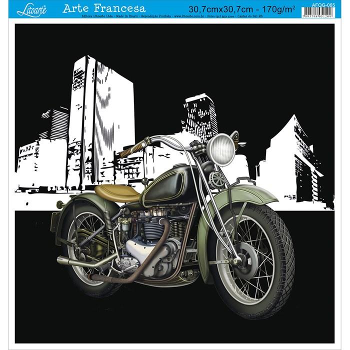 Papel para Arte Francesa Quadrada Grande Litoarte AFQG-065 Moto II