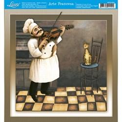 Papel para Arte Francesa Quadrada Litoarte AFQ-024 Gourmet II