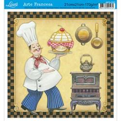 Papel para Arte Francesa Quadrada Litoarte AFQ-232 Gourmet