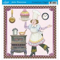 Papel para Arte Francesa Quadrada Litoarte AFQ-233 Gourmet