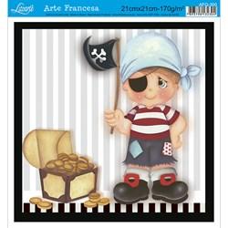 Papel para Arte Francesa Quadrada Litoarte AFQ-300 Menino Pirata