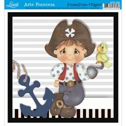 Papel para Arte Francesa Quadrada Litoarte AFQ-302 Menino Pirata 3