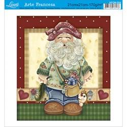 Papel para Arte Francesa Quadrada Litoarte AFQN-004 Papai Noel