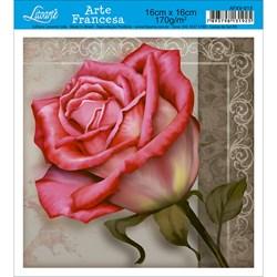 Papel para Arte Francesa Quadrada Litoarte AFXV-015 Rosa