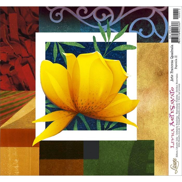 Papel para Arte Francesa Quadrado Litoarte AFQ-012 Papoula II