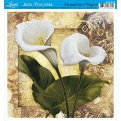Papel para Arte Francesa Quadrado Litoarte AFQ-200 Copo De Leite I