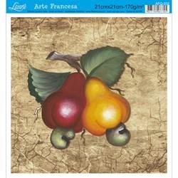 Papel para Arte Francesa Quadrado Litoarte AFQ-202 Caju