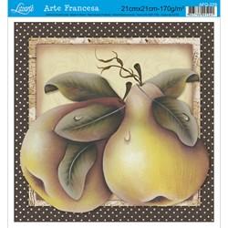 Papel para Arte Francesa Quadrado Litoarte AFQ-229 Fruta