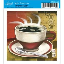 Papel para Arte Francesa Quadrado Litoarte AFX-039 Café