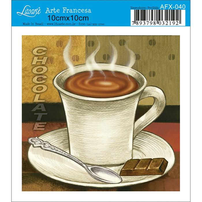 Papel para Arte Francesa Quadrado Litoarte AFX-040 Chocolate