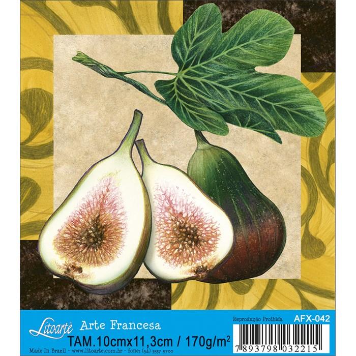 Papel para Arte Francesa Quadrado Litoarte AFX-042 Fruta