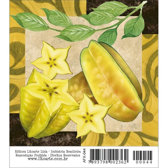 Papel para Arte Francesa Quadrado Litoarte AFX-044 Fruta
