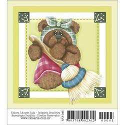 Papel para Arte Francesa Quadrado Litoarte AFX-045 Urso