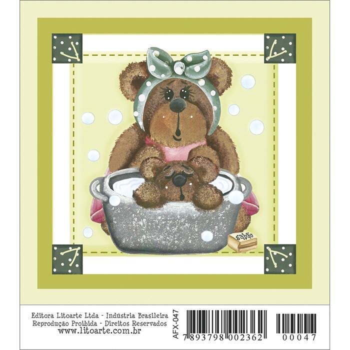 Papel para Arte Francesa Quadrado Litoarte AFX-047 Urso