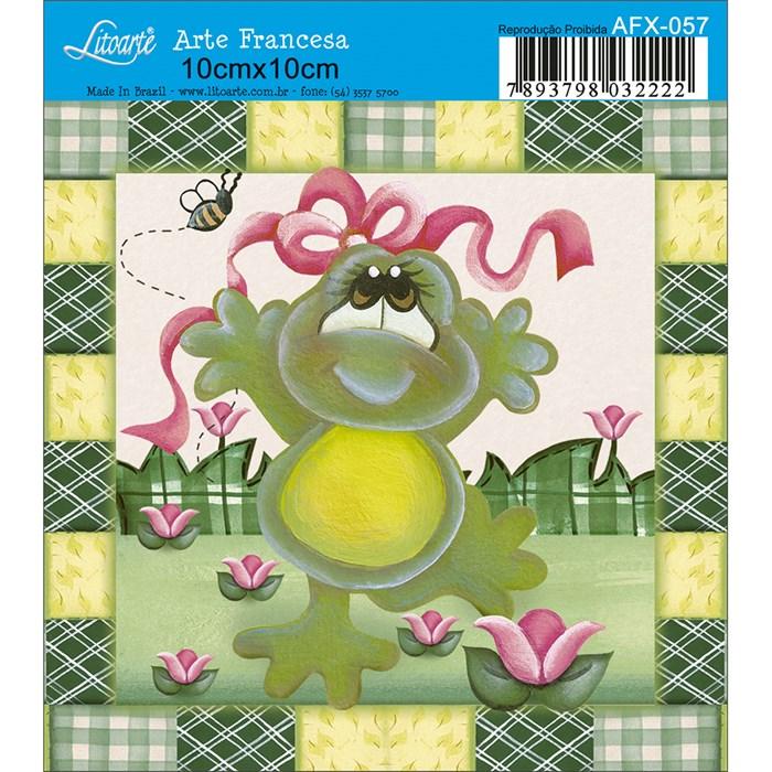 Papel para Arte Francesa Quadrado Litoarte AFX-057 Sapo