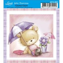 Papel para Arte Francesa Quadrado Litoarte AFX-065 Urso