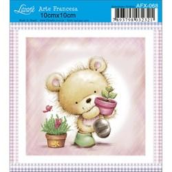 Papel para Arte Francesa Quadrado Litoarte AFX-068 Urso