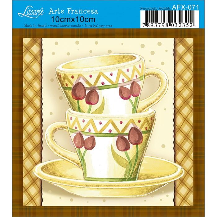 Papel para Arte Francesa Quadrado Litoarte AFX-071 Xícara