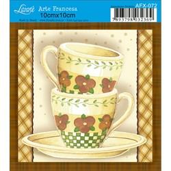 Papel para Arte Francesa Quadrado Litoarte AFX-072 Xícara