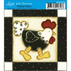 Papel para Arte Francesa Quadrado Litoarte AFX-075 Galinha