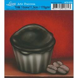 Papel para Arte Francesa Quadrado Litoarte AFX-079 Chocolate