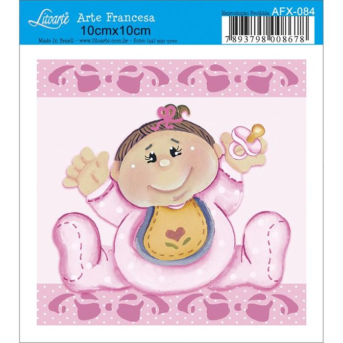 Papel para Arte Francesa Quadrado Litoarte AFX-084 Bebê