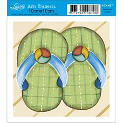 Papel para Arte Francesa Quadrado Litoarte AFX-087 Chinelo