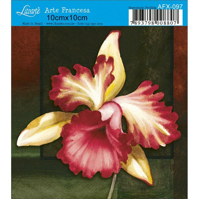 Papel para Arte Francesa Quadrado Litoarte AFX-097 Orquídea