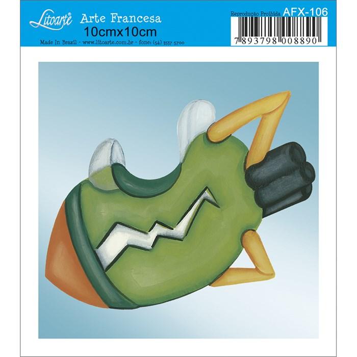Papel para Arte Francesa Quadrado Litoarte AFX-106 Foguete