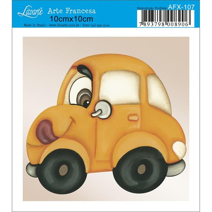 Papel para Arte Francesa Quadrado Litoarte AFX-107 Carro