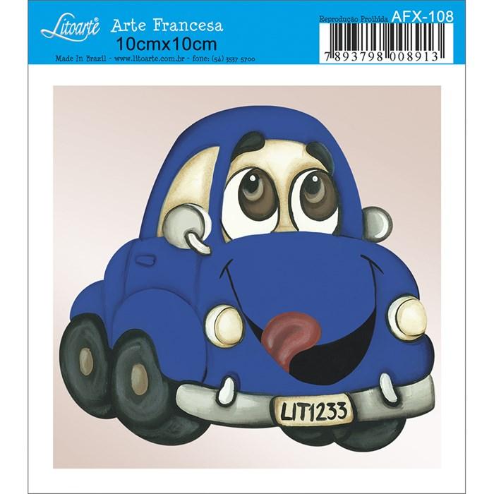 Papel para Arte Francesa Quadrado Litoarte AFX-108 Carro