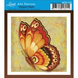 Papel para Arte Francesa Quadrado Litoarte AFX-112 Borboleta