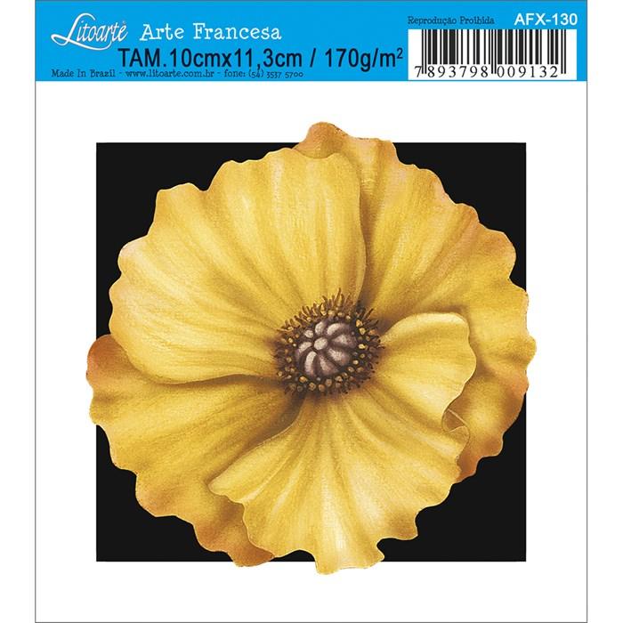 Papel para Arte Francesa Quadrado Litoarte AFX-130 Flor